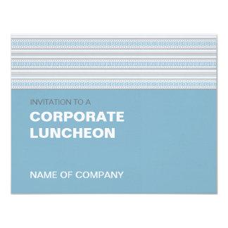 Almoço incorporado do Cornflower da listra da Convite Personalizado