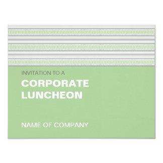 Almoço incorporado do Pistachio da listra da Convite Personalizado