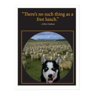 Almoço livre cartão postal