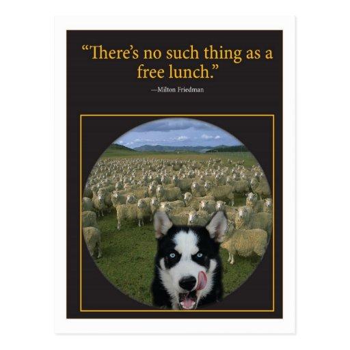 Almoço livre cartões postais