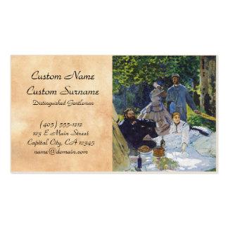 Almoço na grama, painel Center Claude Monet Cartão De Visita