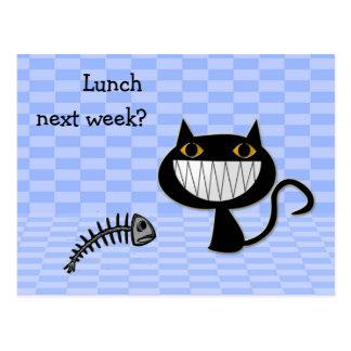 almoço na próxima semana? cartões postais