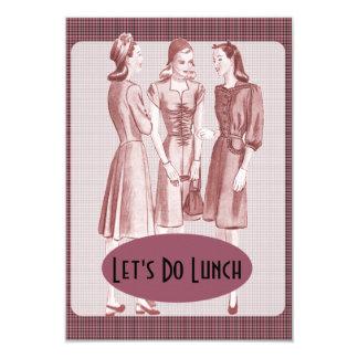 Almoço retro V2B dos anos 40 Convites