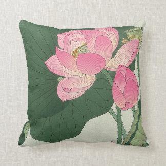 Almofada 蓮の花, flor de Lotus do 小原古邨, Ohara Koson, Ukiyo-e