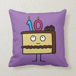 Almofada 10o Bolo de aniversário com velas