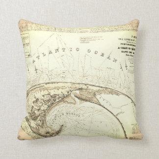 Almofada (1833) mapas velho de Provincetown Truro