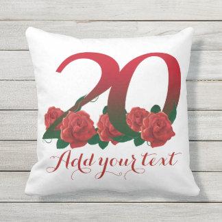 Almofada 20o travesseiro personalizado do texto de 20
