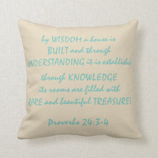 """Almofada 24:3 dos provérbio - travesseiro decorativo 16"""" do"""