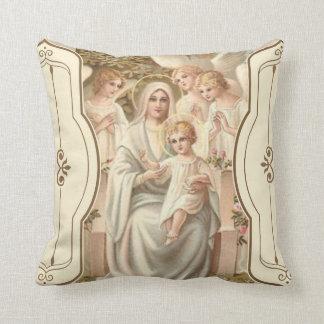 Almofada 2 TOMOU PARTIDO Madonna das flores dos anjos de