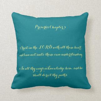 Almofada 3:5 do capítulo dos provérbio - travesseiro 6