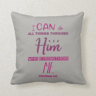 Almofada 4:13 dos Philippians - eu posso fazer todas as