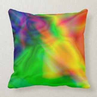 Almofada A arte abstracta colore o travesseiro verde,