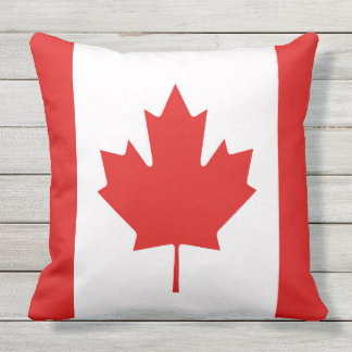 Almofada A bandeira da folha de bordo de Canadá