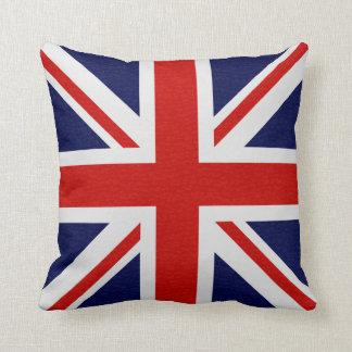 Almofada A bandeira de Reino Unido acende travesseiros do