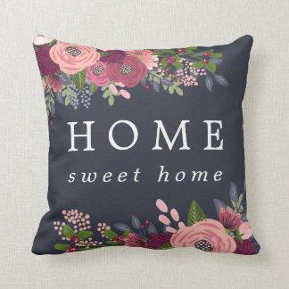 Almofada A casa doce Home - coram & as flores de Borgonha