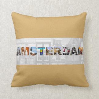 Almofada A cidade de Amsterdão vê o travesseiro decorativo