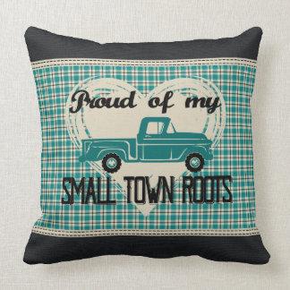 Almofada A cidade pequena enraíza o travesseiro decorativo