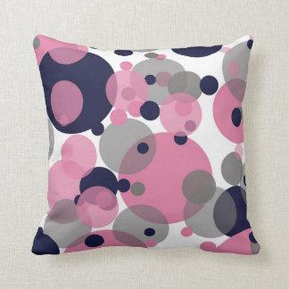 Almofada A cinza cor-de-rosa azul borbulha o travesseiro