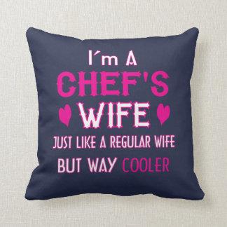 Almofada A esposa do cozinheiro chefe