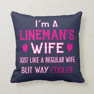 Almofada A esposa do lineman