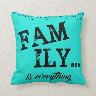 Almofada A família é tudo estilo do Grunge -