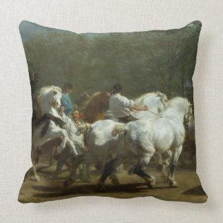 Almofada A feira de cavalo pelo travesseiro do algodão de