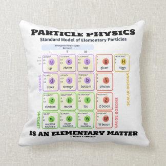 Almofada A física de partícula é um modelo elementar da