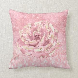 Almofada A flor cor-de-rosa cora rosa magro de Ombre da