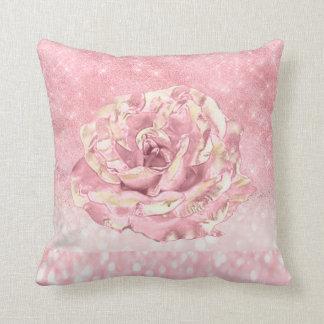 Almofada A flor cor-de-rosa cora rosa magro de Ombre do