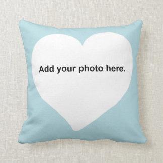 Almofada A forma do coração adiciona seu travesseiro da
