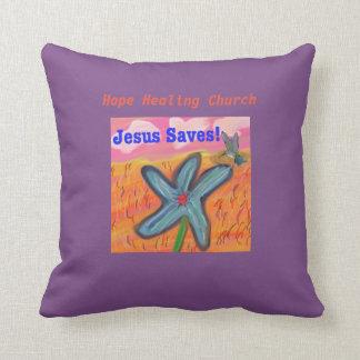 Almofada A igreja cura Jesus da esperança salvar o