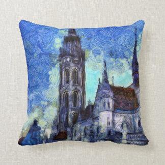 Almofada A igreja Vincent van Gogh