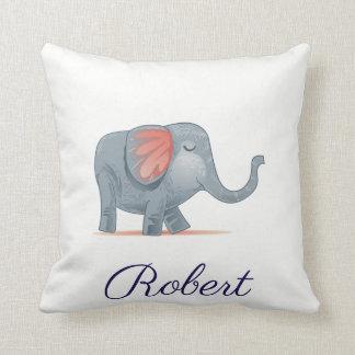 Almofada A ilustração bonito do elefante personalizou seu