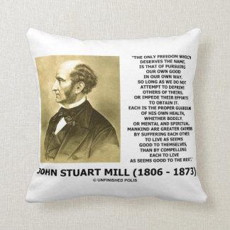 Almofada A liberdade de John Stuart Mill que leva a cabo