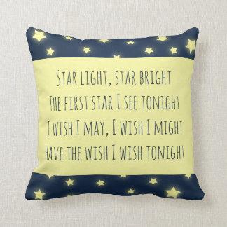 Almofada A luz da estrela, Star o berçário brilhante do chá