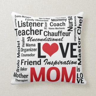 Almofada A mamã é travesseiro do amor para a mamã