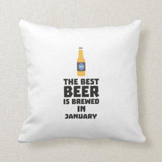 Almofada A melhor cerveja é em janeiro Zxe8k fabricado