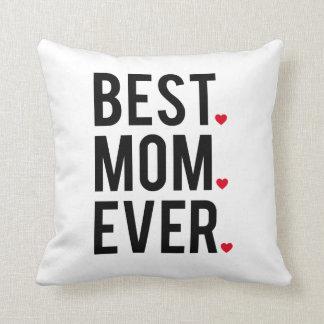 Almofada a melhor mamã nunca, arte da palavra, design de