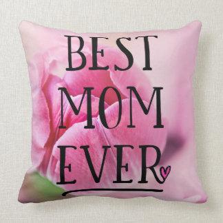 Almofada A melhor tulipa do rosa da mamã nunca