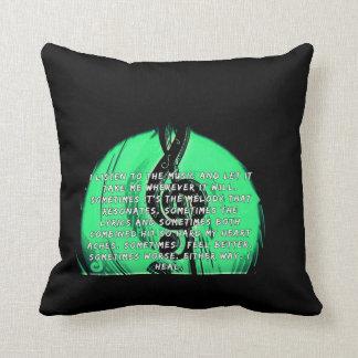 Almofada A música cura o travesseiro