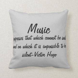 Almofada A música expressa…