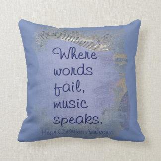 Almofada A música fala--  Diga-a com travesseiros