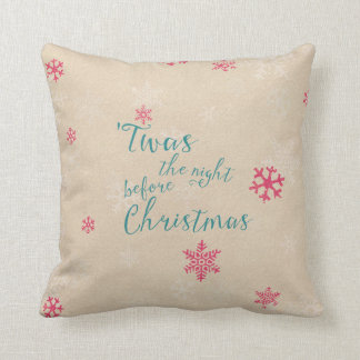 Almofada a noite antes do Natal