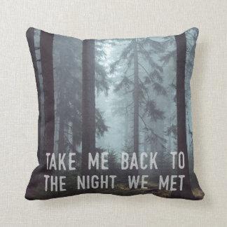 Almofada A noite onde nós nos encontramos