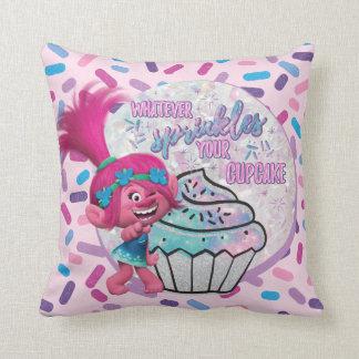 Almofada A papoila dos troll   polvilha seu cupcake