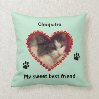 Almofada A pata do gato imprime a foto feita sob encomenda
