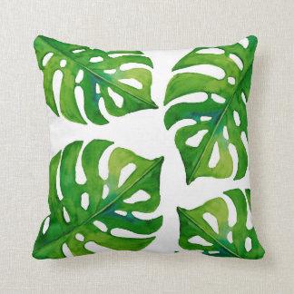Almofada A planta tropical sae aguarela do travesseiro home