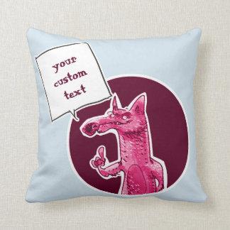 Almofada a raposa dá a algum conselho desenhos animados