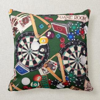 Almofada A sala de jogo arremessa o travesseiro decorativo