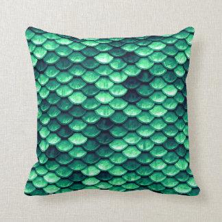 Almofada A sereia escala o travesseiro decorativo